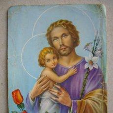 Postales: POSTAL DE SAN JOSE CON EL NIÑO - 15 X 10.5 CTM -. Lote 35952104