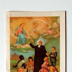 Postales: ESTAMPITA DE SAN JUAN BAUTISTA DE LA SALLE DE 1906!!! ORACION POSTERIOR . Lote 36133923