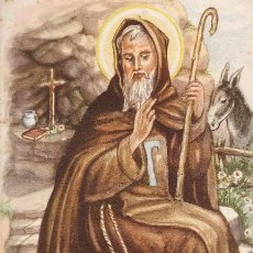 Postales: PRECIOSA POSTAL RELIGIOSA - SAN ANTONIO ABAD - DIBUJO - Nº 41 - ED. FS - SIN CIRCULAR - AÑOS 40 -. Lote 36311216