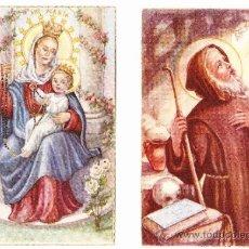 Postales: 2 POSTALES RELIGIOSAS AÑOS 50-60. Lote 36472076