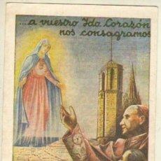 Postales: ESTAMPA RECORDATORIO CORAZON DE MARIA BARCELONA MAYO 1943 . Lote 36675761