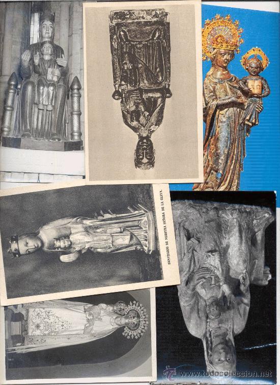 LOTE POSTALES VIRGEN (Postales - Postales Temáticas - Religiosas y Recordatorios)