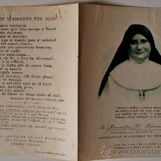 Postales: FOLLETO ANTIGUO MADRE MARIA MARGARITA MATURANA (BERRIZ, VIZCAYA) . Lote 36877109