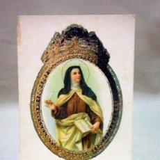 Postales: ANTIGUA POSTAL RELIGIOSA, SANTA TERESA. ORLA EN RELIEVE. GOFRADO. Nº 160. Lote 37469179
