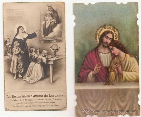 2 ANTIGUA ESTAMPA - RECORDATORIO DEL .AÑO 1936 (Postales - Postales Temáticas - Religiosas y Recordatorios)