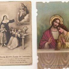 Postales: 2 ANTIGUA ESTAMPA - RECORDATORIO DEL .AÑO 1936. Lote 37164249