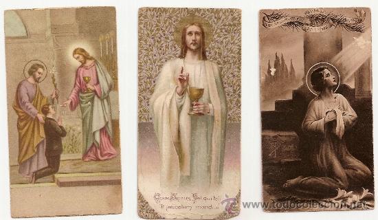 3 ANTIGUA ESTAMPA - RECORDATORIO DEL .AÑO 1939 (Postales - Postales Temáticas - Religiosas y Recordatorios)