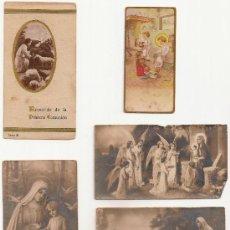 Postales: 5 ANTIGUA ESTAMPA - RECORDATORIO DEL .AÑO 1940-. Lote 37164277