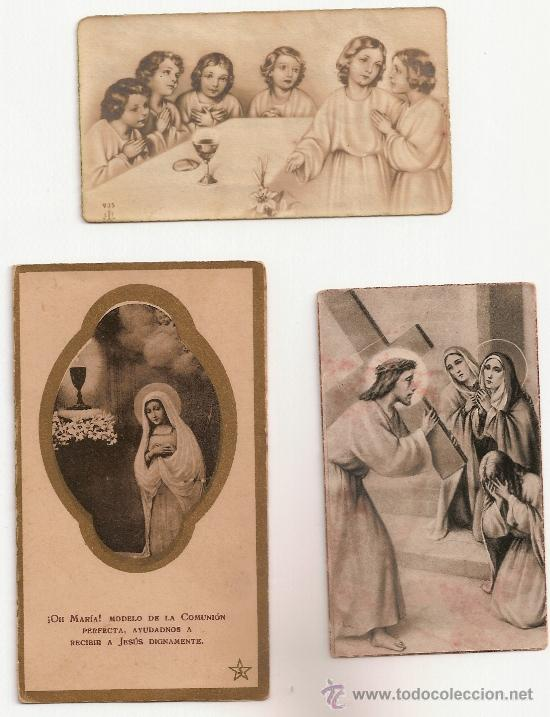 3 ANTIGUA ESTAMPA - RECORDATORIO DEL .AÑO 1942 (Postales - Postales Temáticas - Religiosas y Recordatorios)