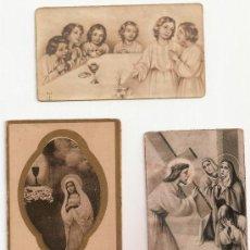 Postales: 3 ANTIGUA ESTAMPA - RECORDATORIO DEL .AÑO 1942. Lote 37164306