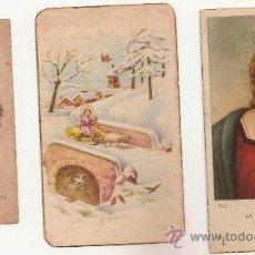 Postales: 3 ANTIGUA ESTAMPA - RECORDATORIO DEL .AÑO 1945. Lote 37164325