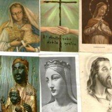 Postales: LOTE DE SEIS, 6 ESTAMPAS RELIGIOSAS VIRGEN Y CRISTO . Lote 37277431