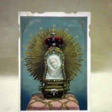 Postales: TARJETA O ESTAMPA RELIGIOSA. NUESTRA SEÑORA DE LA CUEVA SANTA. SANTOS Y MARTIN. VALENCIA. Lote 37362148
