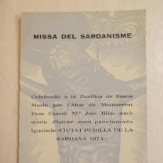 Postales: BONITA POSTAL. RELIGIOSA. SAN CRIST D'IGUALADA. MISSA DEL SARDANISME. Lote 37365526