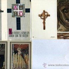 Postales: 3 RECORDATORIOS RELIGIOSOS AÑOS 60 , SIN IMPRENTA . Lote 37367184