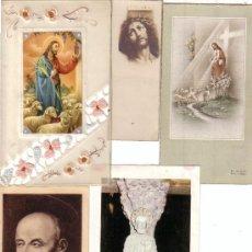 Postales: LOTE DE 5 ESTAMPAS ESTAMPA RELIGIOSAS SANTOS. Lote 37426855