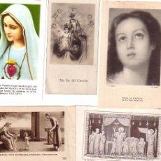 Postales: LOTE DE 5 ESTAMPAS ESTAMPA RELIGIOSAS. Lote 37435290