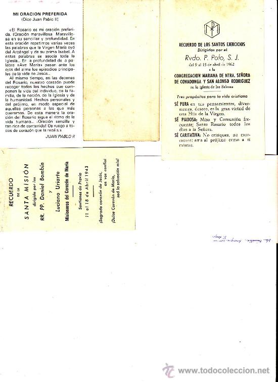 Postales: LOTE DE 5 ESTAMPAS ESTAMPA RELIGIOSAS - Foto 2 - 37435290