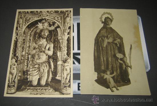 LOTE DE POSTALES RELIGIOSAS MUY ANTIGUAS. CRISTO Y VIRGEN (Postales - Postales Temáticas - Religiosas y Recordatorios)