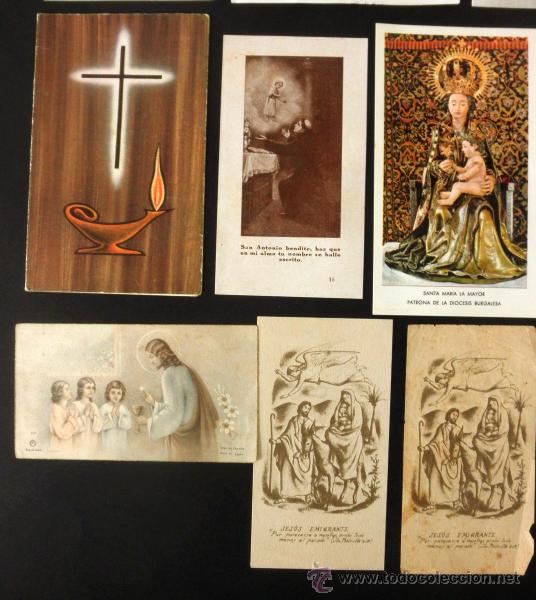 Postales: LOTE DE 14 ESTAMPAS * RECORDATORIOS * TARJETAS DE DEFUNCION - Foto 3 - 37725154