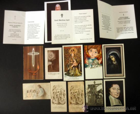 Postales: LOTE DE 14 ESTAMPAS * RECORDATORIOS * TARJETAS DE DEFUNCION - Foto 5 - 37725154
