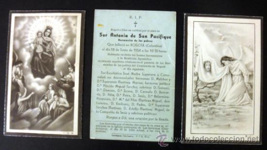 Postales: LOTE DE 2 RECORDATORIOS DE DEFUNCION + ESTAMPA - Foto 5 - 37725230