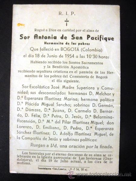 Postales: LOTE DE 2 RECORDATORIOS DE DEFUNCION + ESTAMPA - Foto 7 - 37725230