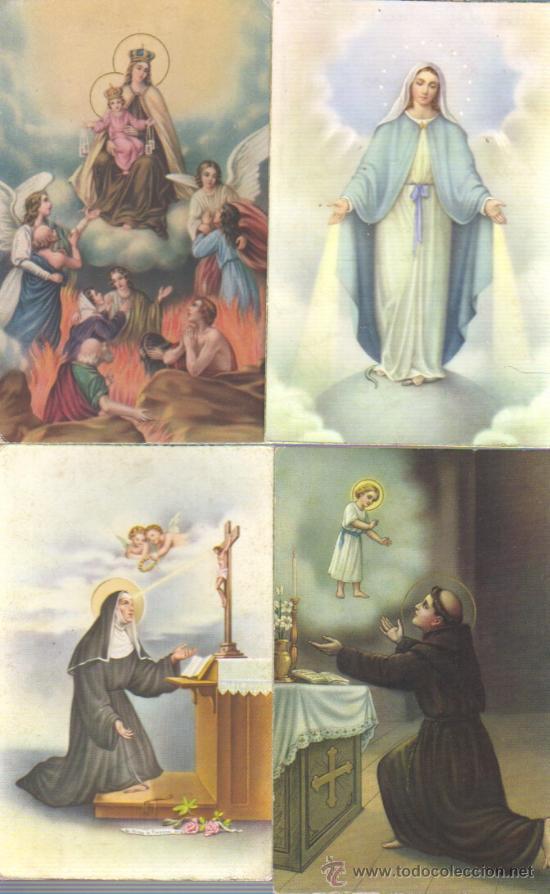 4 POSTALES RELIGIOSAS (Postales - Postales Temáticas - Religiosas y Recordatorios)
