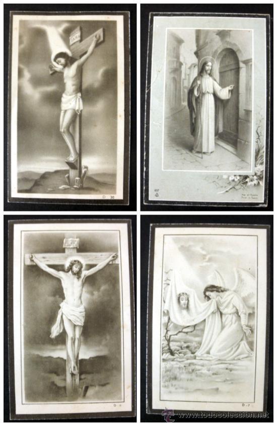 LOTE DE 2 RECORDATORIOS DE DEFUNCION + ESTAMPA (Postales - Postales Temáticas - Religiosas y Recordatorios)