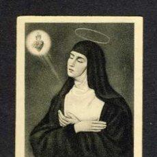 Postales: ESTAMPA RELIGIOSA: MARGUERITE MARIE ALACOQUE. Lote 37794576
