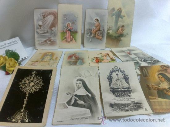 1ª 1/2 XX-S. COLECCIÓN DE PEQUEÑAS POSTALES Y RECORDATORIOS. (Postales - Postales Temáticas - Religiosas y Recordatorios)