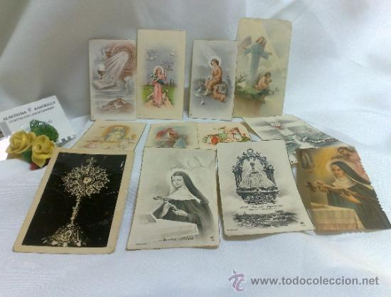 Postales: 1ª 1/2 XX-S. COLECCIÓN DE PEQUEÑAS POSTALES Y RECORDATORIOS. - Foto 2 - 37959519