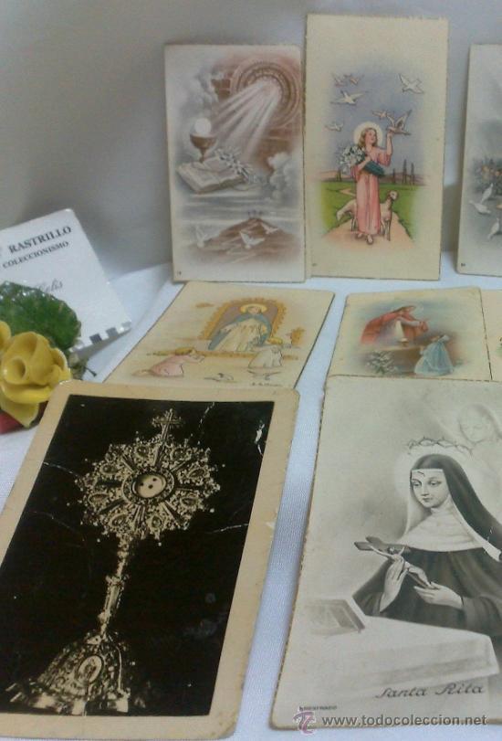 Postales: 1ª 1/2 XX-S. COLECCIÓN DE PEQUEÑAS POSTALES Y RECORDATORIOS. - Foto 3 - 37959519