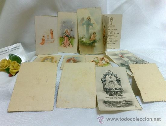 Postales: 1ª 1/2 XX-S. COLECCIÓN DE PEQUEÑAS POSTALES Y RECORDATORIOS. - Foto 5 - 37959519