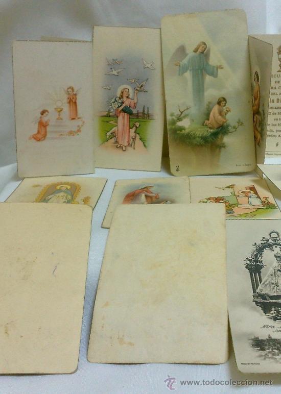 Postales: 1ª 1/2 XX-S. COLECCIÓN DE PEQUEÑAS POSTALES Y RECORDATORIOS. - Foto 7 - 37959519