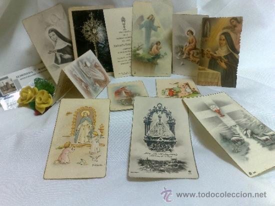 Postales: 1ª 1/2 XX-S. COLECCIÓN DE PEQUEÑAS POSTALES Y RECORDATORIOS. - Foto 6 - 37959519