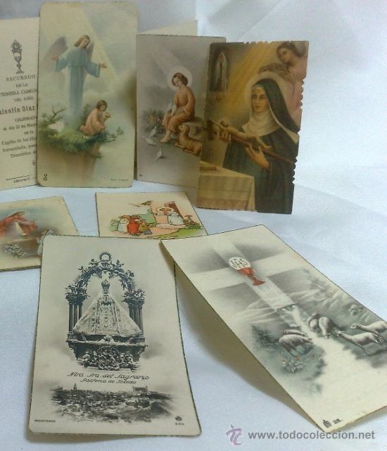 Postales: 1ª 1/2 XX-S. COLECCIÓN DE PEQUEÑAS POSTALES Y RECORDATORIOS. - Foto 9 - 37959519