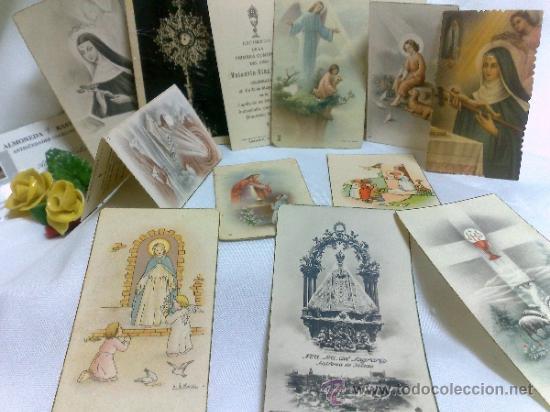 Postales: 1ª 1/2 XX-S. COLECCIÓN DE PEQUEÑAS POSTALES Y RECORDATORIOS. - Foto 10 - 37959519