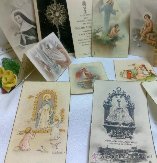Postales: 1ª 1/2 XX-S. COLECCIÓN DE PEQUEÑAS POSTALES Y RECORDATORIOS. - Foto 8 - 37959519