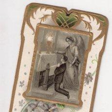 Postales: ESTAMPA DE 1920 CON DETALLES MODERNISTA, 1ª COMUNION, ZARAGOZA, MARISTAS. Lote 38163834