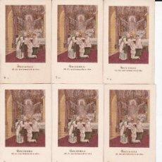 Postales: 8 RECUERDOS SIN MARCAR EN EL DORSO. Lote 38381145