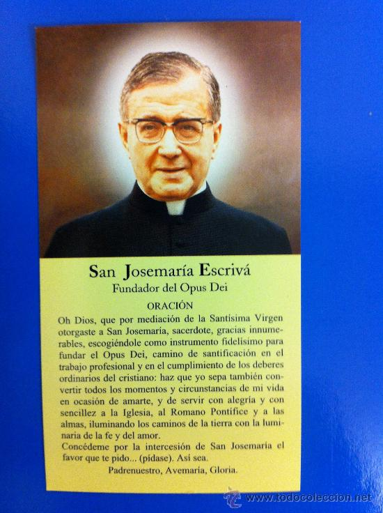 Estampa Religiosa San Josemaría Escrivá De Bala Sold Through Direct Sale 38785856