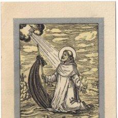 Postales: RECORDATORIO FIESTA SANT RAMON DE PENYAFORT - 1950. Lote 38834115