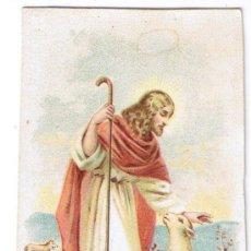 Postales: ESTAMPA JESÚS Y OVEJA DESCARRIADA. Lote 39053156