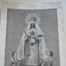 Postales: MUY ANTIGUA POSTAL DE NUESTRA SEÑORA DE LA MERCED. PATRONA DE JEREZ DE LA FRONTERA. Lote 39179464