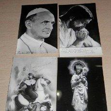 Postales: LOTE DE 4 ESTAMPAS RELIGIOSAS ANTIGUAS. Lote 39226797