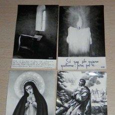 Postales: LOTE DE 4 ESTAMPAS RELIGIOSAS ANTIGUAS. Lote 39226813