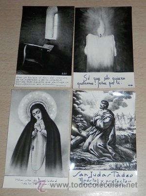 ESTAMPAS RELIGIOSAS ANTIGUAS - LOTE DE 4 (Postales - Postales Temáticas - Religiosas y Recordatorios)