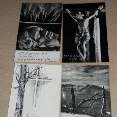 Postales: LOTE DE 4 ESTAMPAS RELIGIOSAS ANTIGUAS. Lote 39226839
