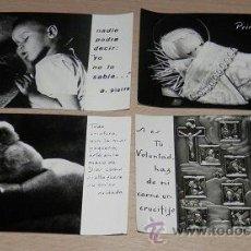 Postales: ESTAMPAS RELIGIOSAS ANTIGUAS - LOTE DE 4. Lote 39226866
